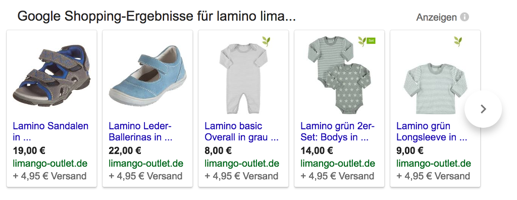 lamino limango google shopping